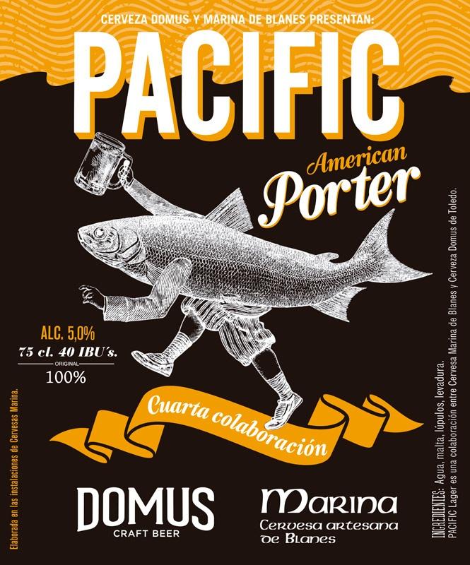 Cerveza artesana Pacific American Porter - Domus Craft Beer 4ª + Marina