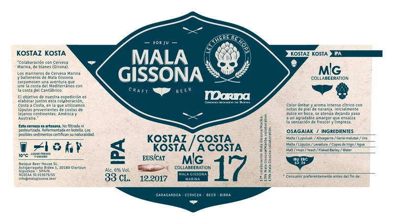 cerveza artesana Costa a Costa 17